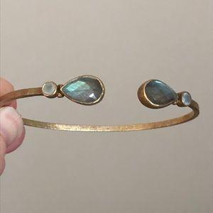 Jewelry - Gold over silver labradorite cuff